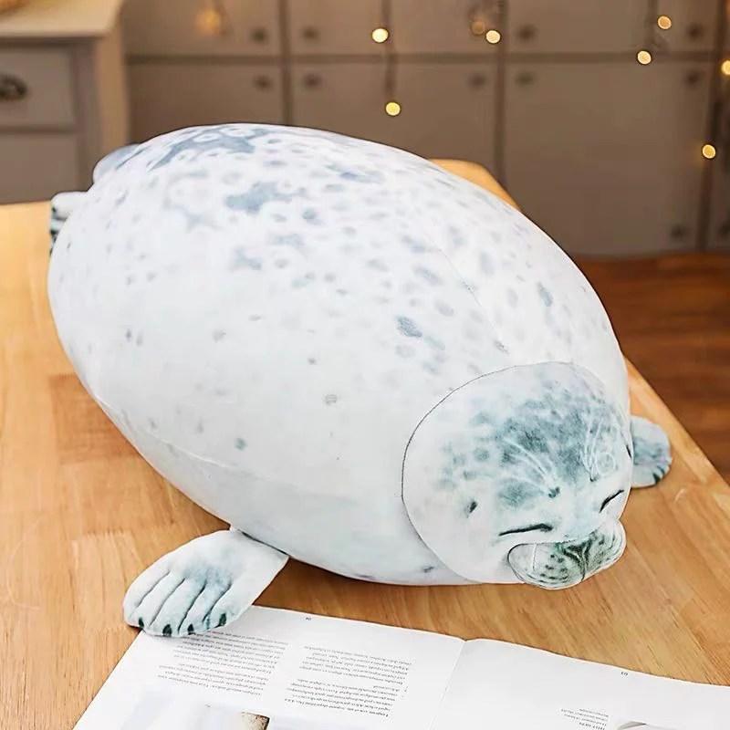 sleepy satisfied seal pillow buzzy trend
