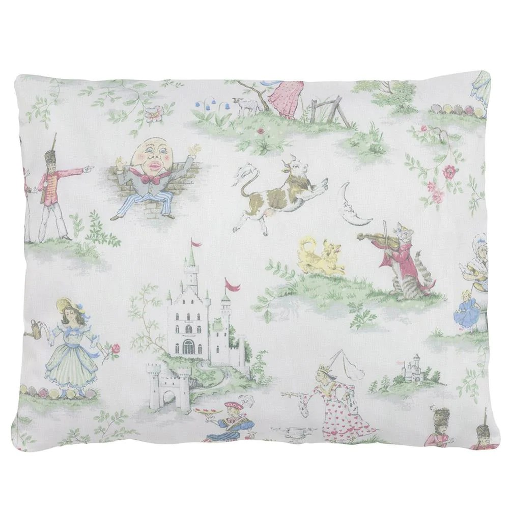 nursery rhyme toile accent pillow
