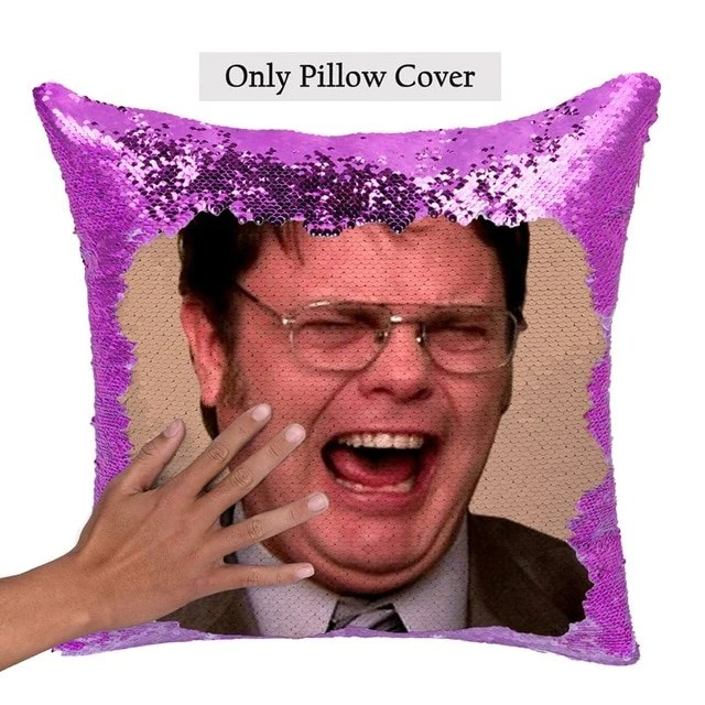 dwight schrute laughing crying sequin