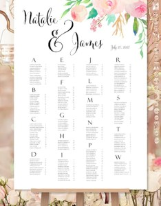 Wedding reception seating chart poster template also juve rh cenitdelacabrera