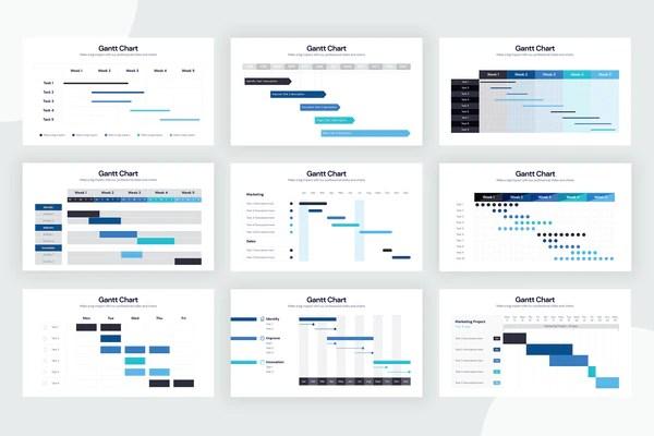 140 best gantt chart template images, stock photos & vectors | adobe stock. Infographic Templates Slidewalla