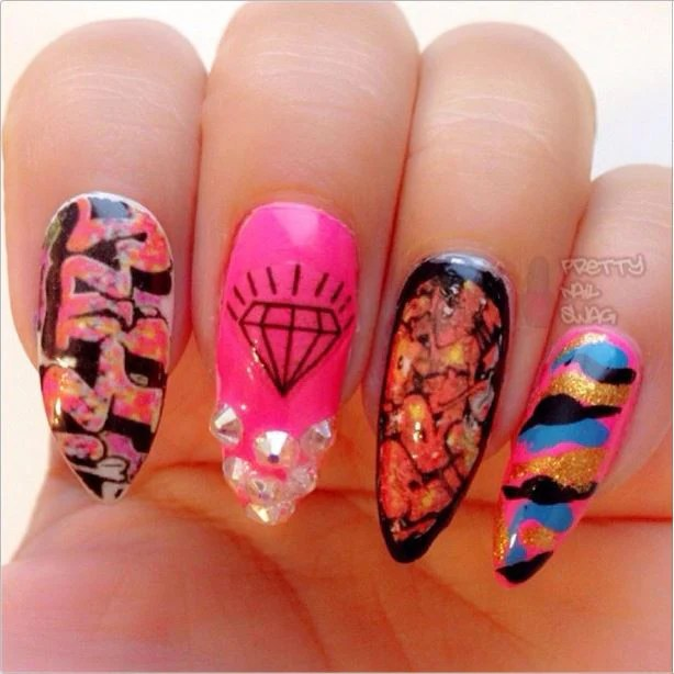 graffiti nail decals set #6