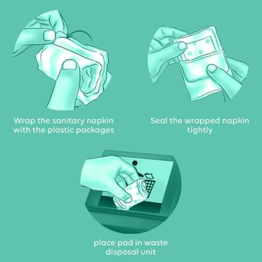 how to dispose off a sanitary pad?