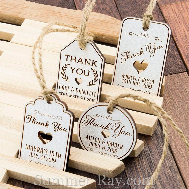 personalized white wooden engraved