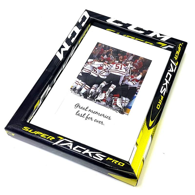 astonishing hockey stick picture frame mini 14 x 20 cm ccm super tacks pro