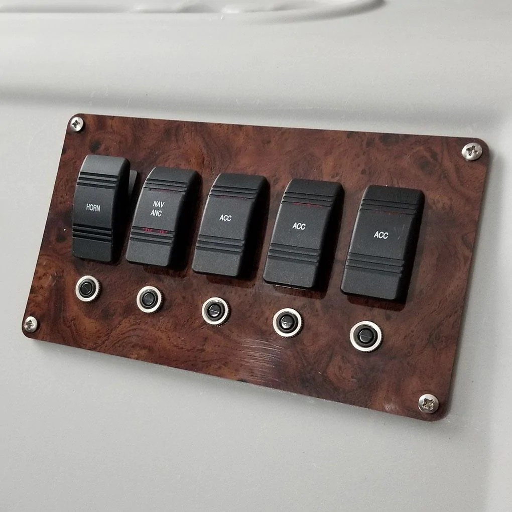 small resolution of pontoon boat switch panel