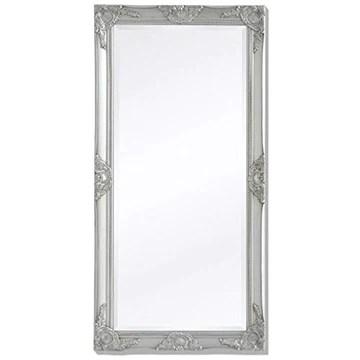 Tidyard Miroir Mural Magnifique pour Salle de Bain/Dressing Style Baroque Argenté 120 x 60 cm