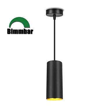 XODZASG LED dimmable Suspension, Lampe suspension contemporaine, Downlight/Corps en aluminium en métal / 10w Lumière blanche chaude 3000K (Noir-3000K)