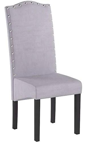 PS Global Lot de 2 chaises de Salle à Manger en Velours Knockerback de qualité - Chaises de Salle à Manger, Cuisine