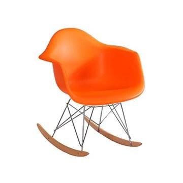 Ping Bu Qing Yun Fauteuil de négociation réception Minimaliste Moderne créatif en Bois Massif Fauteuil à Bascule - Multicolore en Option (Taille: 65X69X69.5cm) @ (Color : Orange)