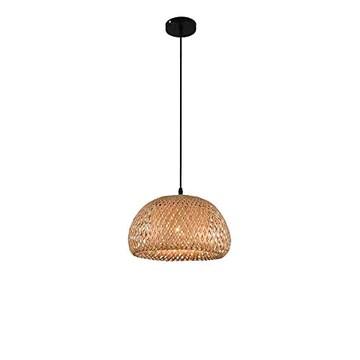 Laytter Bamboo Garden Lustre restaurant Asie du Sud Pendant Light Lighting Tea House en rotin Bambou Lustre Bois Art Salon Lamp
