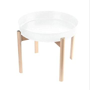 T-Day Tables basses Table de chevet Tables console Petite table d'extrémité de table d'appoint de table basse de table basse en métal moderne, bureau à plateau rond, 45 * 45 * 40 cm Tables de dos de c