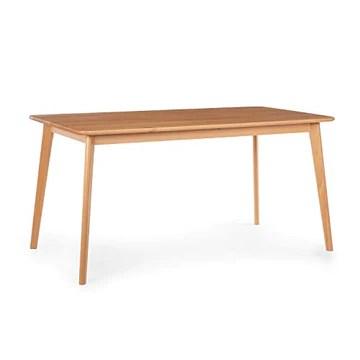 electronic star Besoa Svenson Table de Salle à Manger, hêtre, 150 x 75 x 80 cm, Assortie à la Paire de chaises de Salle à Manger Besoa Nyssa, Bois