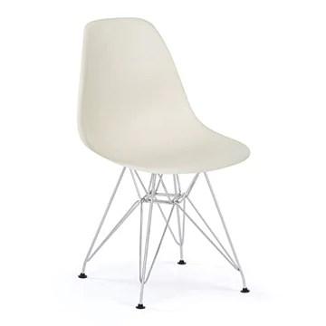 Eurosilla ST003 Chaise de Salle à Manger, Acier, métal, Blanc, 1