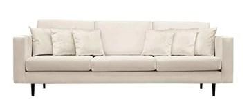 Fait à la main en Europe contemporain contemporain canapé 4 places en velours (Beige/Ecru)