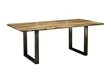 Table à manger 180x90cm - Bois massif de palissandre laqué (Noble Unique) - SYDNEY #0302