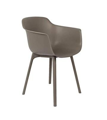 Chaise Design WLabel Edition la Chaise Mae Taupe WLabel Edition/de Couleur Taupe/en Polyprolpylene/Désigné par WLabel Edition