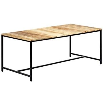 vidaXL Bois de Manguier Massif Brut Table à Dîner Table de Salle à Manger Table de Cuisine Table de Repas Table à Manger Maison Intérieur 180x90x75 cm