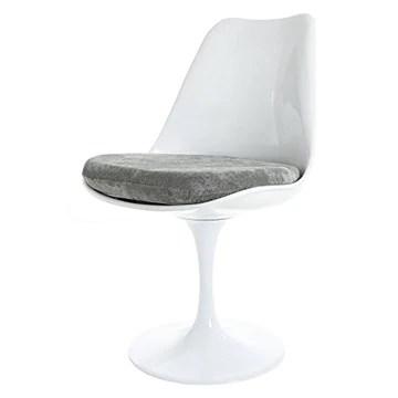 Eero Saarinen Chaise Tulipe Gris Blanc Et Soumise Style