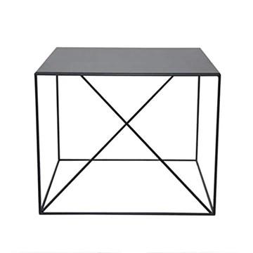 Canapé Side Table, Salon Fer Art Petite Table Carrée Bureau Salle de réunion Décoration Table basse Chambre Table de nuit (Color : Black)