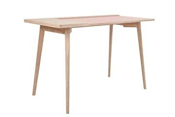 One Couture Bureau Bureau Table Console Skandi Rétro Table D'Appoint Frêne Rose