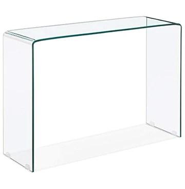 Alterego Table Console Design 'Bobby Console' en Verre Transparent