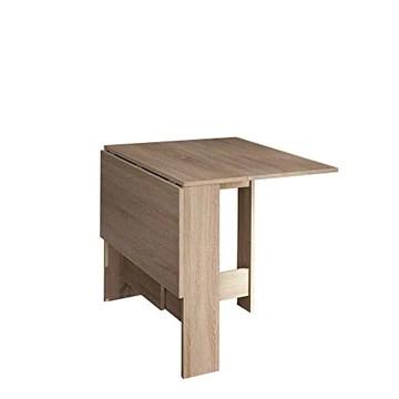 Papillon, Table Pliante avec 2 Abattants, en Panneaux de Particules Melaminés, Chêne Naturel 103/67/28x76x73,4 (LxPxA)