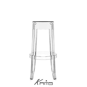 Générique Tabouret De Bar Crystal Star en Polycarbonate Transparent Au Design Contemporain