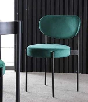 Slu17 Chaise de Salle à Manger Moderne Chaise de Velours Chaise de Designer Chaise de Dossier Chaise de Petit-déjeuner (Couleur : Vert)
