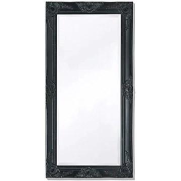 Tidyard Miroir Mural Magnifique pour Salle de Bain/Dressing Style Baroque Noir 100 X 50 cm