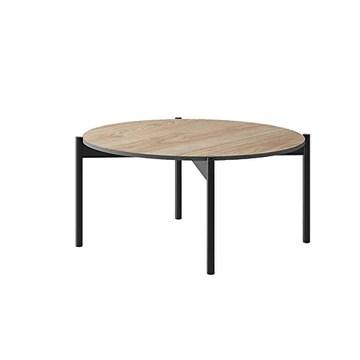 MHF Table basse de salon moderne Basic 12 de 86 cm de large