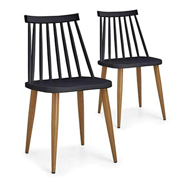 Paris Prix - Lot De 2 Chaises Scandinaves Estelle 77cm Noir
