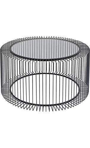 Kare Design - Table Basse métal et Verre 80cm
