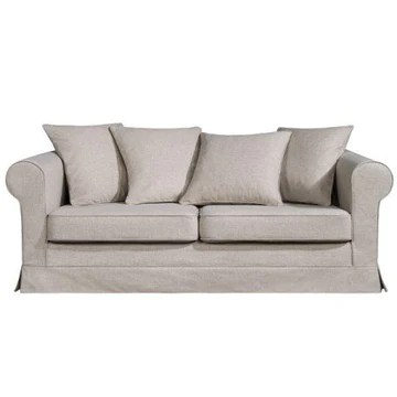 Home Spirit Fabrication française - Cossima 3 Places 200 Cm Tissu Hopper 100% Polyester N° 8 Gris