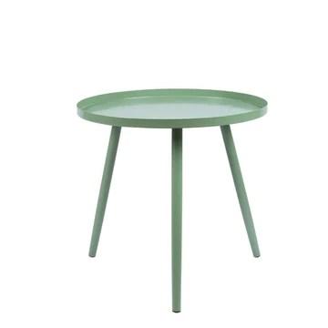 MXZBHCreative Petite Table Basse en Fer, Salon Moderne Mini Table Basse Chambre Simple Petite Table Ronde (Couleur: Vert, Taille: 46 x 44cm