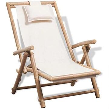 vidaXL Chaise de terrasse en Bambou