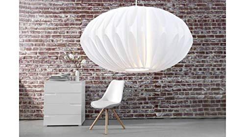 Suspension design blanche Luna 50 cm