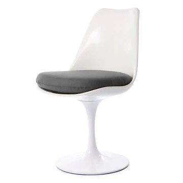 Eero Saarinen Blanc et Gris Chaise Tulipe Style