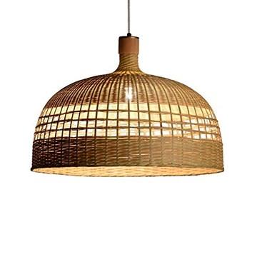 XNCH Lampe de Suspension en métal de Bambou de Lustre de Jardin s'allume Salon de thé Restaurant Salon de thé hôtel Lampe de Suspension/Lampes de Plafond