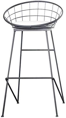 QTQZDD Barres Noires de Bar comptoir Haut Repose-Pieds Cuisine Cuisine dinant Les Jambes en métal de Chaise et Le siège de Lin, Max.150kg