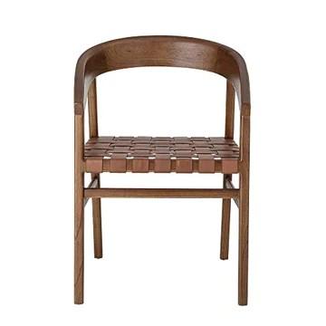 Bloomingville Chaise Design la Chaise Vitus de Couleur/en Bois Mindy - Cuir/Désigné