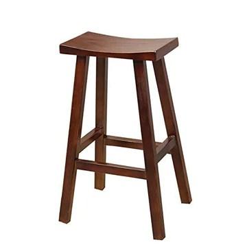 YZjk Chaise de Bar Minimaliste Moderne de Tabouret de Bar LiaoMu, tabourets en Bois créatifs en Caoutchouc appropriés pour la réception de café de Restaurant de Maison (Taille: H 45cm)