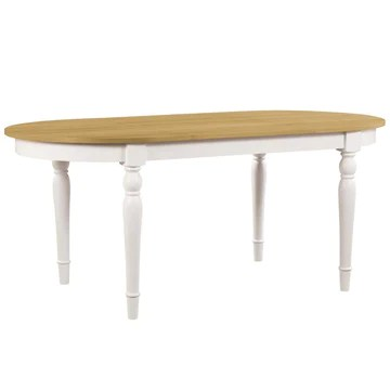 vidaXL Table de Salle à Manger Ovale Placage en Chêne Table à Manger Cuisine
