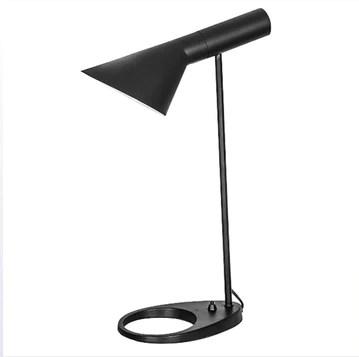 WeeLion Noir créatif Nordique Style Minimaliste de Lecture LED Lampe de Table en Alliage matériel-Salon Lampe/Bureau/Chambre/Chevet AJ Lampe de Table