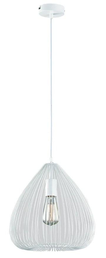 Viokef Lighting 4163100 Pendant D320 Mist, Métal/, E27, Blanc, 32 x 32 x 130