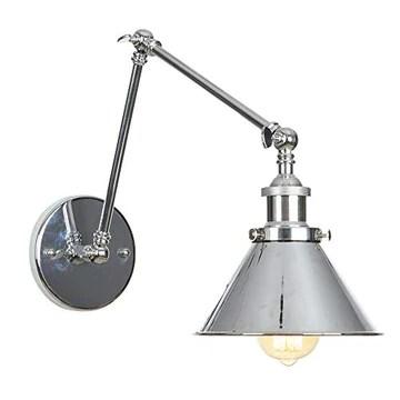 JING Lampe Murale Vintage Ajustable Simplicité E27 avec Bras Oscillant Applique Murale (110-240V, sans Ampoule Incluse)