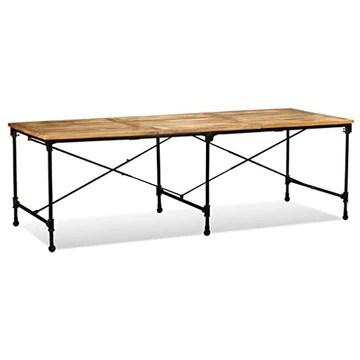 Festnight- Table de Jardin Bois de Manguier Massif Table de Salle à Manger Intérieur Extérieur 240 x 90 x 76 cm