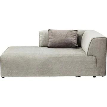 Kare Design Méridienne Gauche d'angle canapé Infinity Gris
