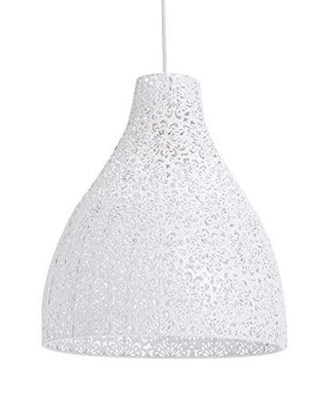 Luminaire Zephir,suspension métal, 40 W, blanc, ø 28 x H 32 cm