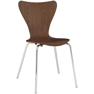 Modway Ernie Chaise de Cuisine et Salle à Manger Moderne en Bois Noyer